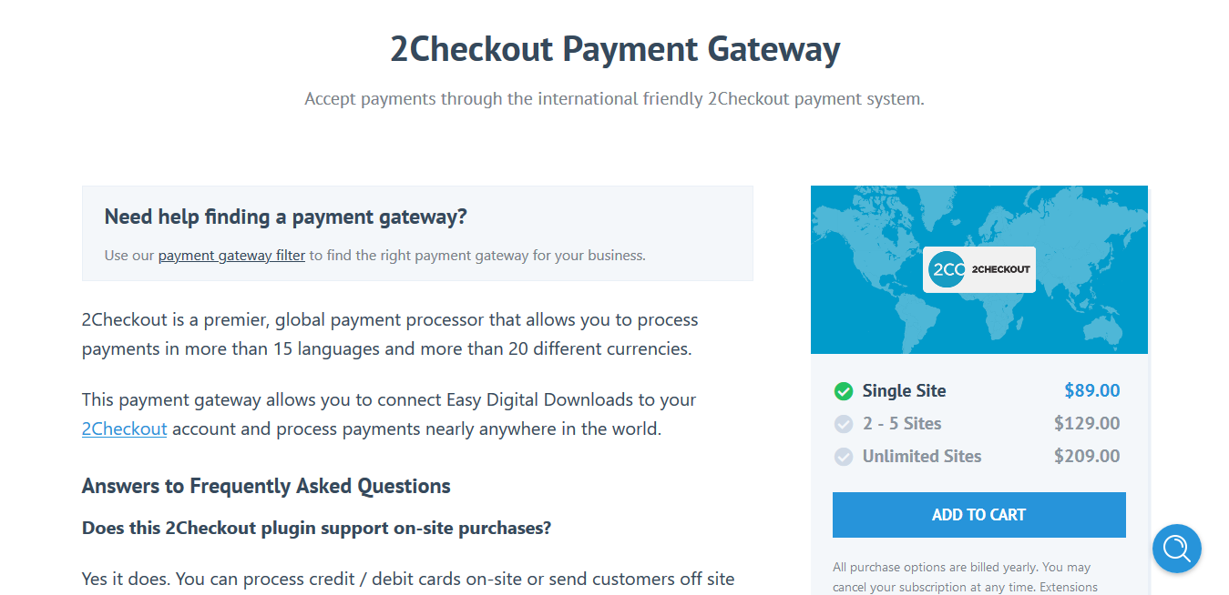 Easy Digital Downloads 2Checkout Payment Gateway 1.3.13