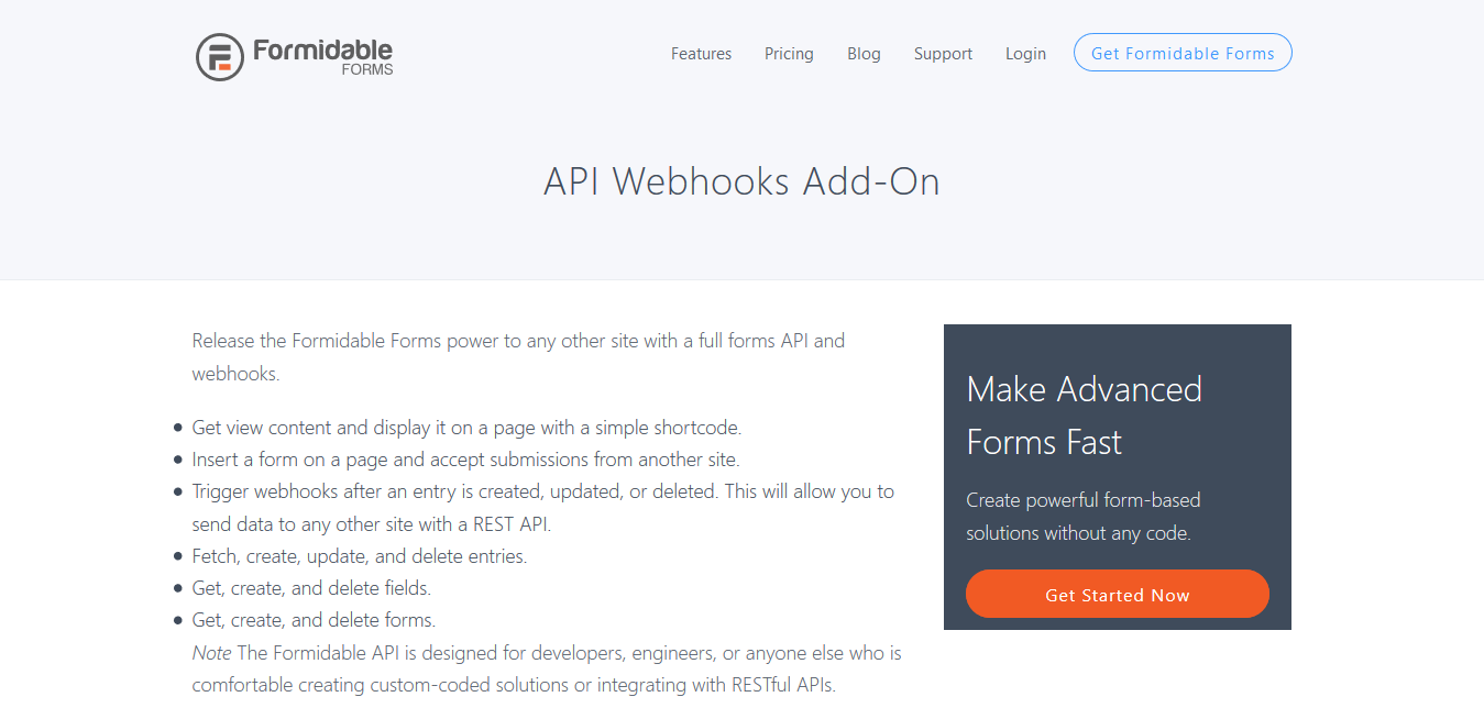 Formidable Forms Pro API Webhooks Add-On 1.08