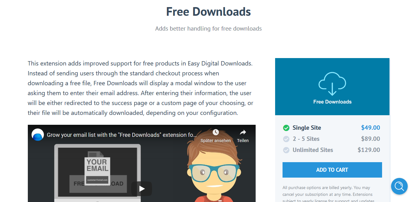Easy Digital Downloads Free Downloads 2.3.9 – Adds better handling for free downloads
