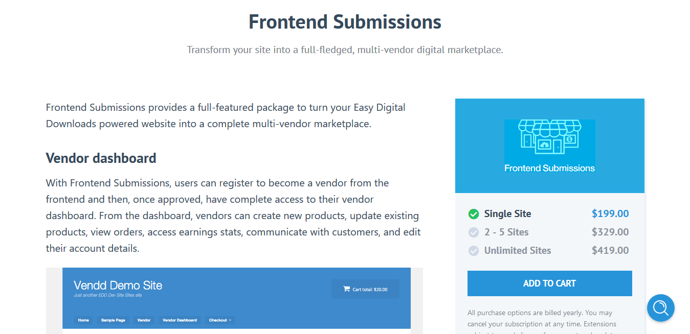 Easy Digital Downloads Frontend Submissions 2.6.5