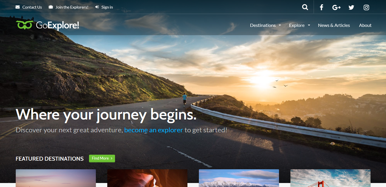 GoExplore! Travel WordPress Theme 1.3.20