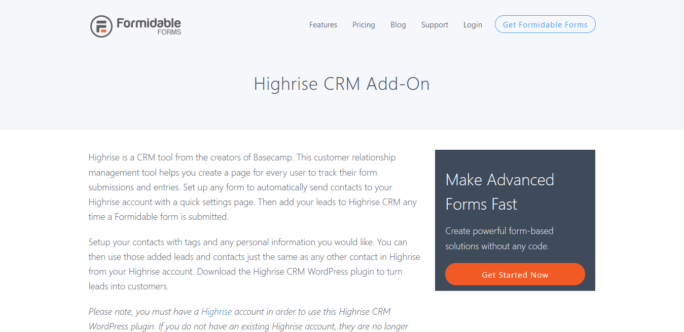 Formidable Forms Pro Highrise CRM 1.0.6