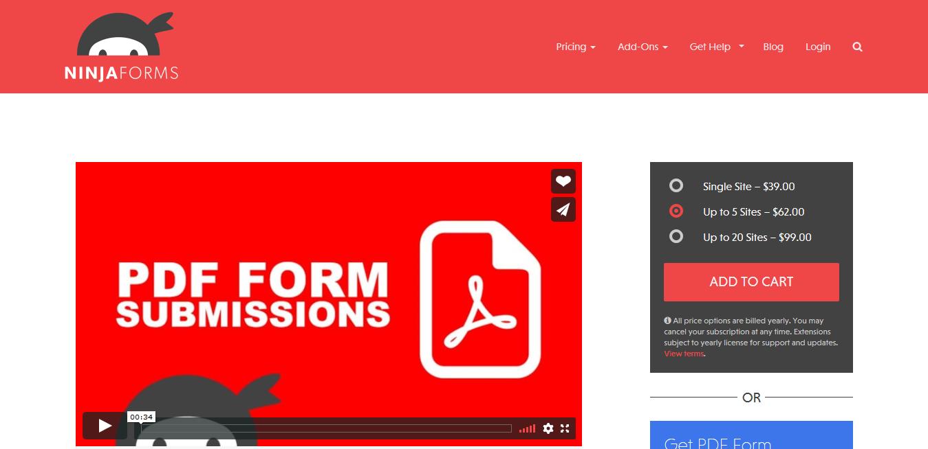 Ninja Forms PDF Form Submission Addon 3.1.2