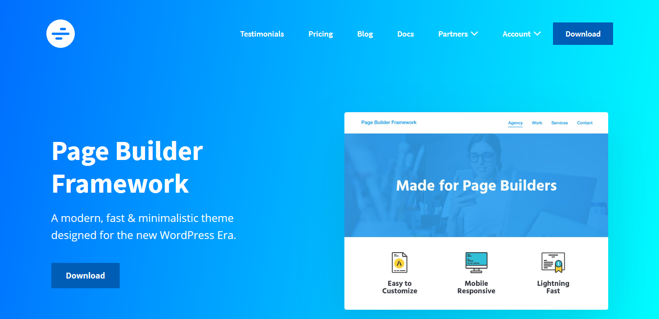 Page Builder Framework Premium Addon 2.5.11 – A Fast Minimalistic WordPress Theme