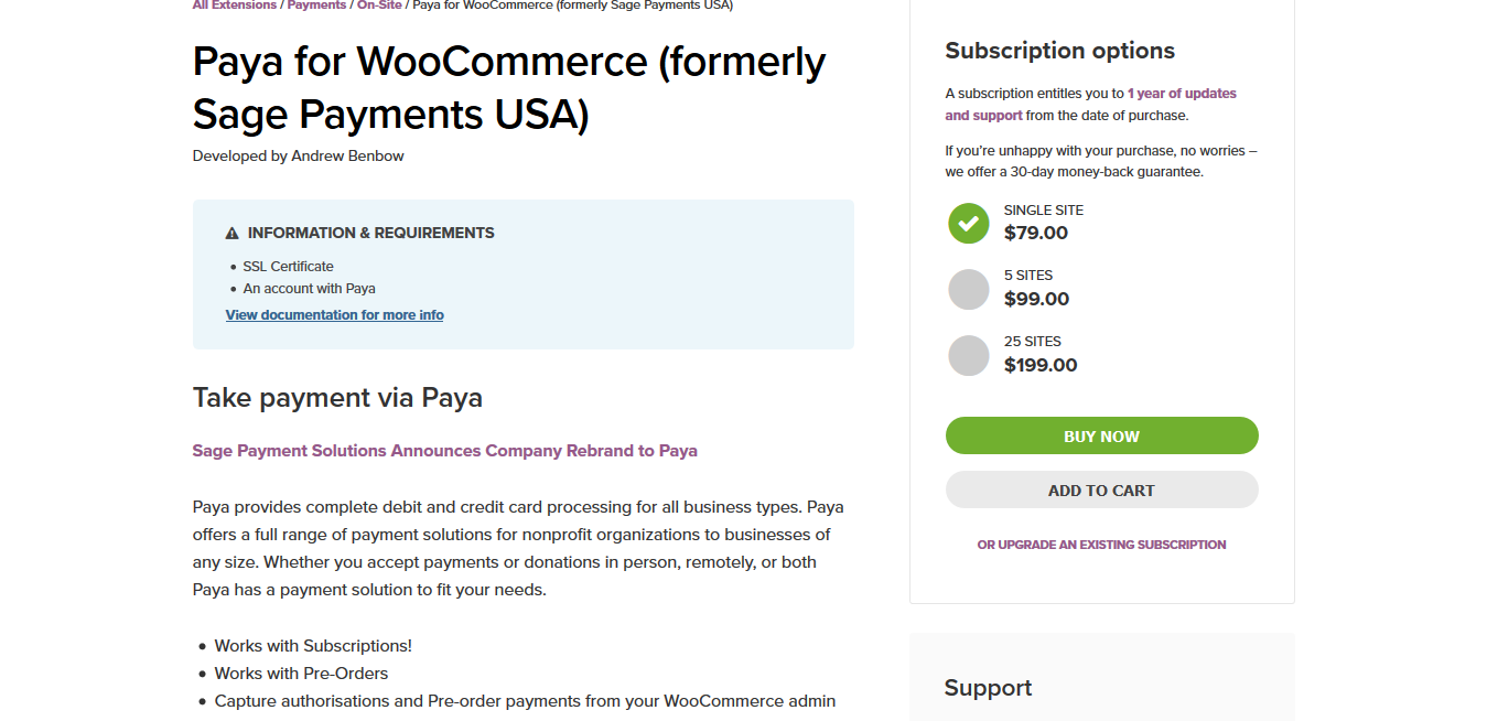Paya for WooCommerce (formerly Sage Payments USA) 3.1.0