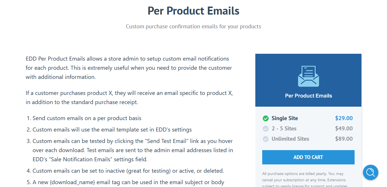 Easy Digital Downloads Per Product Emails 1.1.7