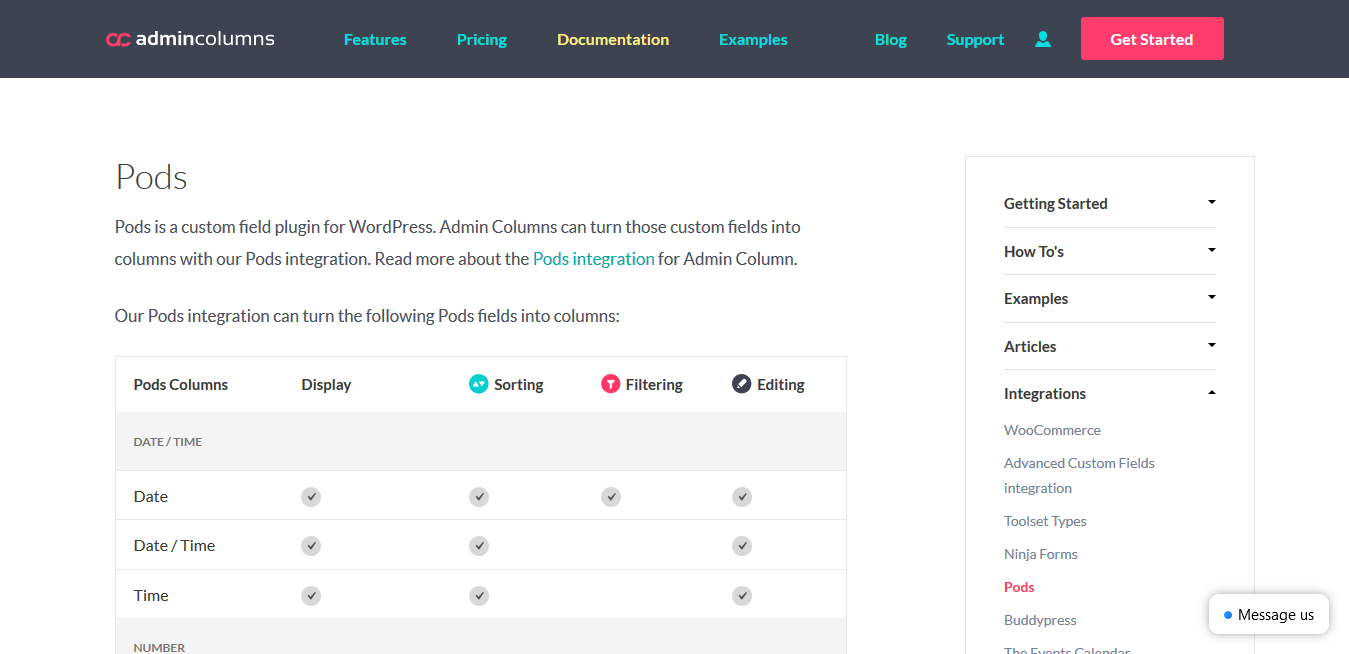 Admin Columns Pro Pods 1.5.1 – WordPress Content Management Plugin