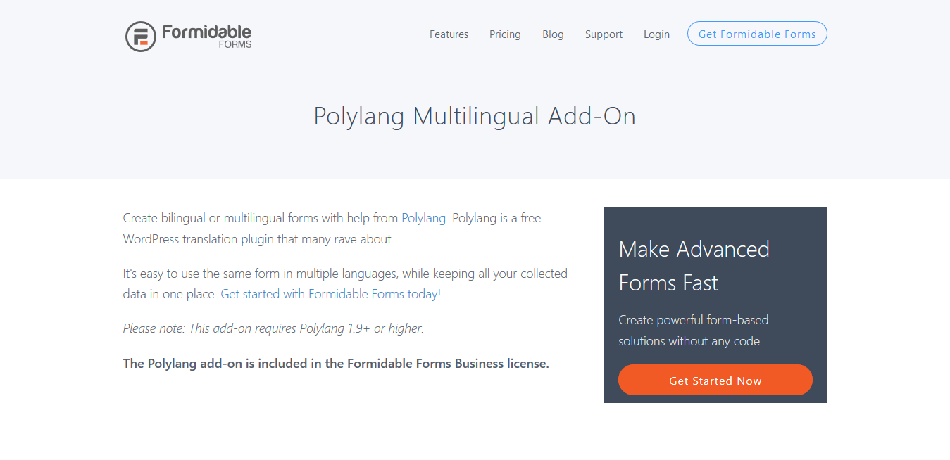 Formidable Forms Pro Polylang Multilingual 1.07