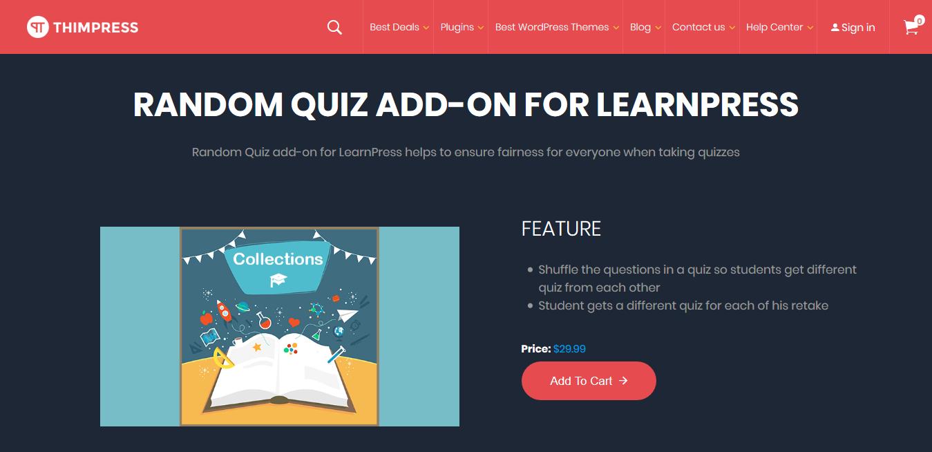 LearnPress – Random Quiz 3.1.1