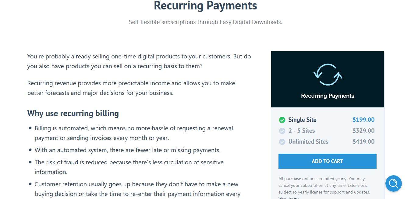 Easy Digital Downloads Recurring Payments 2.10 – Subscriptions with EDD