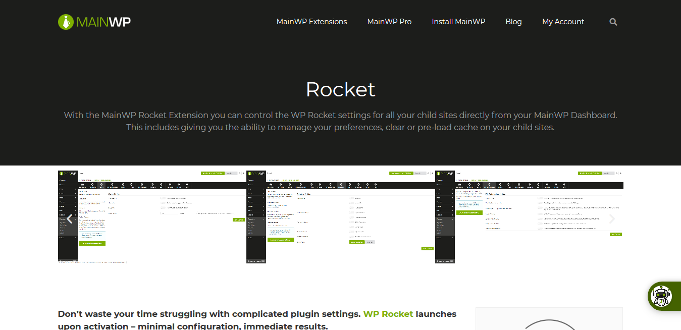 Rocket 4.0.1.1 – MainWP WPRocket WordPress Management