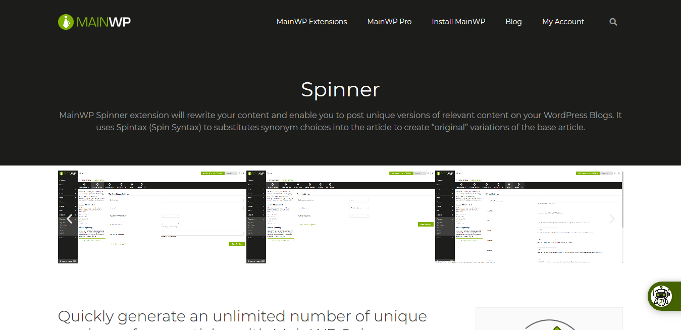 Spinner 4.0.1 – MainWP WordPress Management