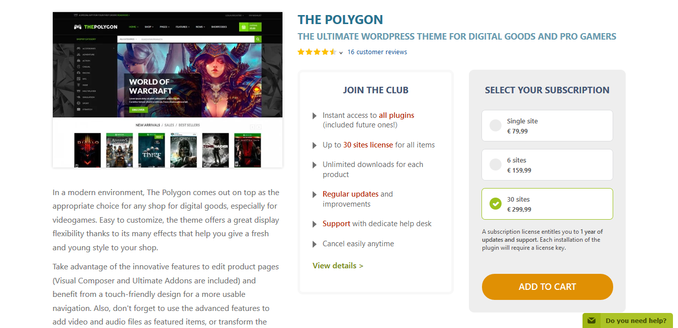 YITH The Polygon 1.2.5 – WordPress theme for Videogames