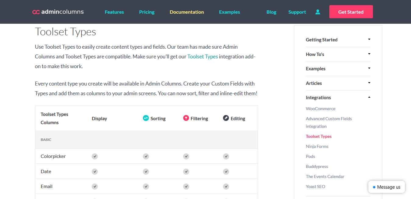 Admin Columns Pro Toolset Types 1.6.1 – WordPress Content Management Plugin