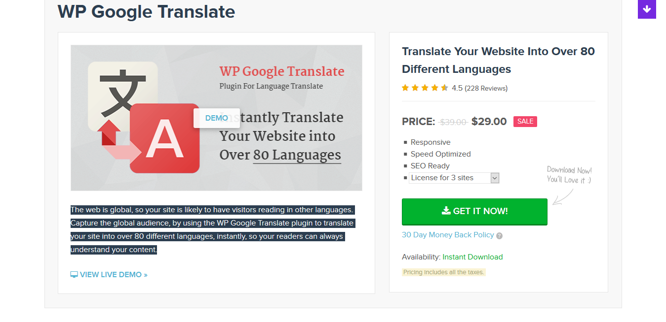 MyThemeShop WP Google Translate 1.0.8 – Premium WordPress Translation Plugin
