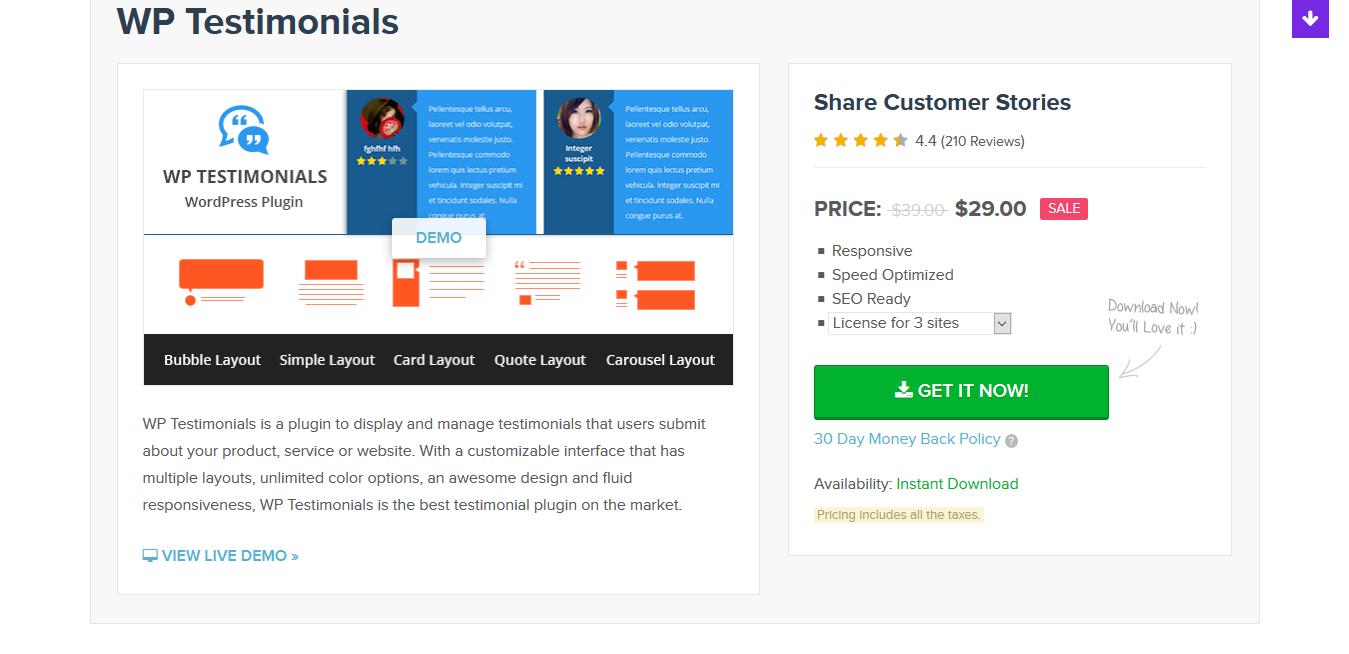 MyThemeShop WP Testimonials 1.0.9 – Premium WordPress Testimonials Plugin