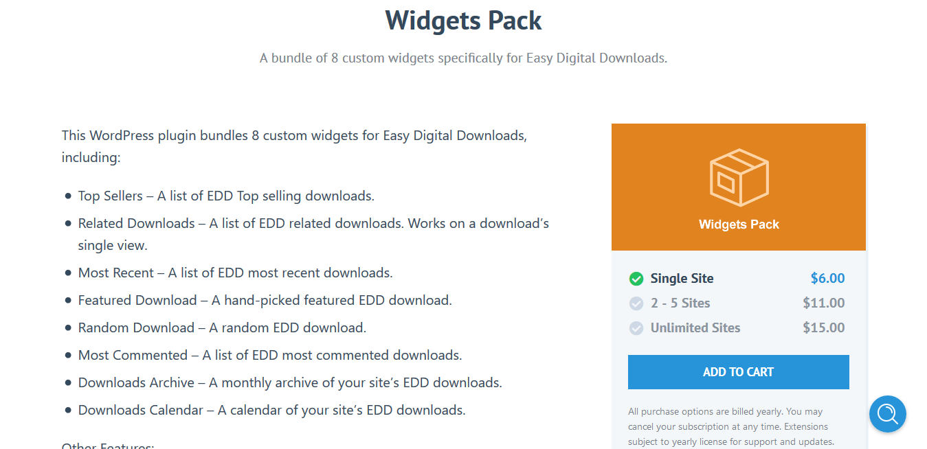 Easy Digital Downloads Widgets Pack 1.2.6