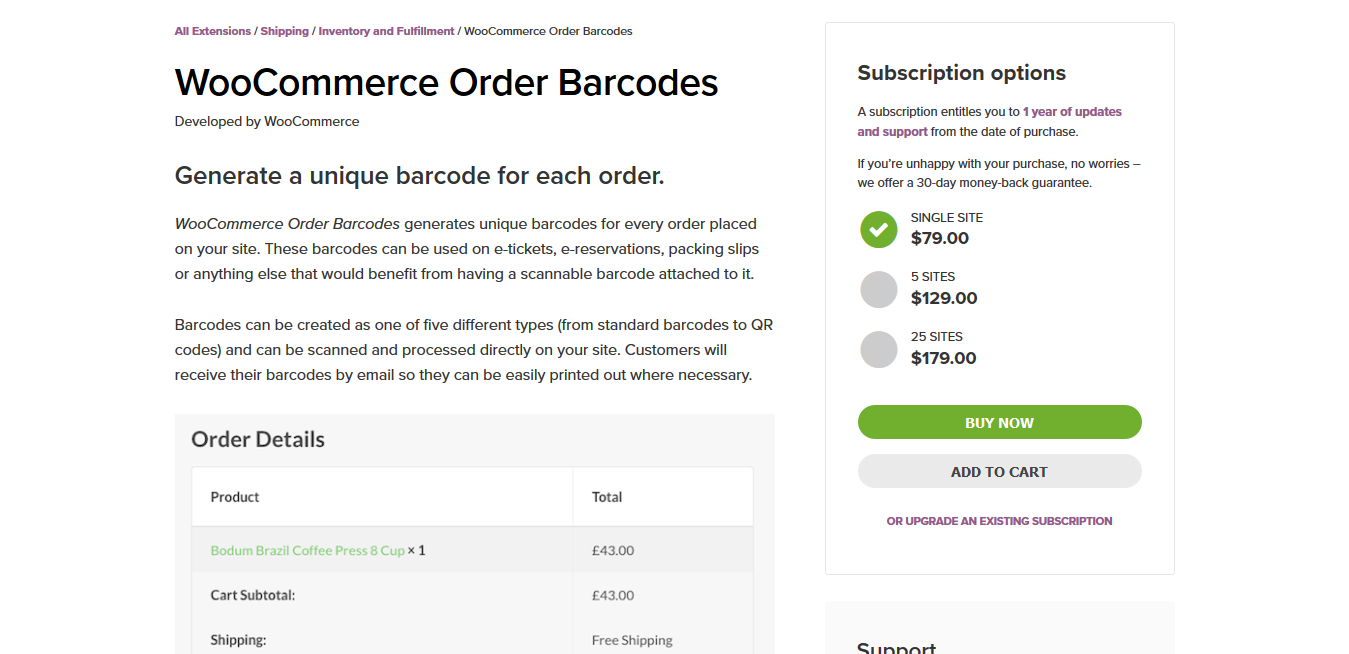 WooCommerce Order Barcodes 1.3.23
