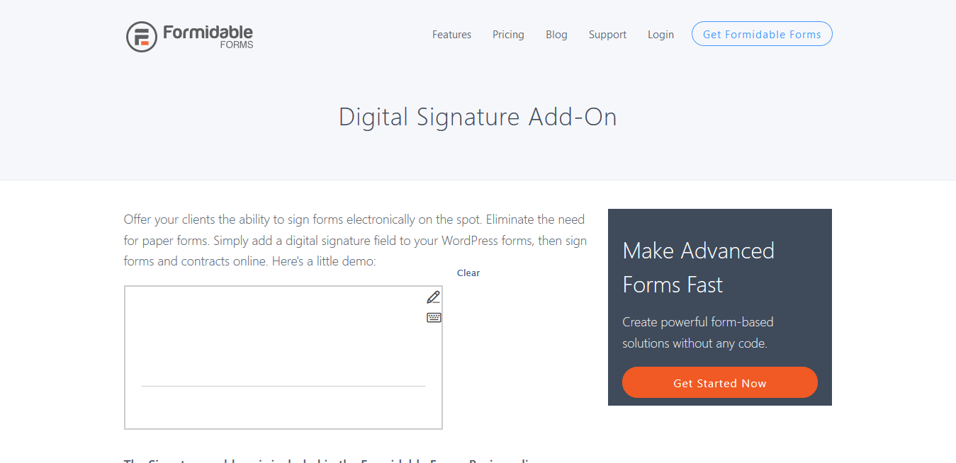 Formidable Forms Pro Digital Signature 2.03