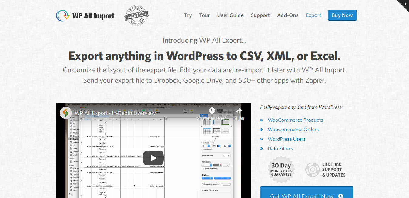 WP All Export 1.6.0 – WordPress XML CSV Export Plugin