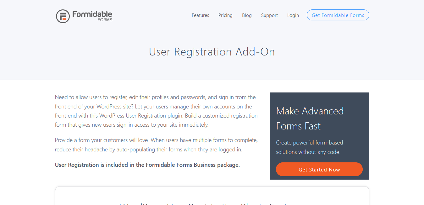 Formidable Forms Pro User Registration Addon 2.02.02