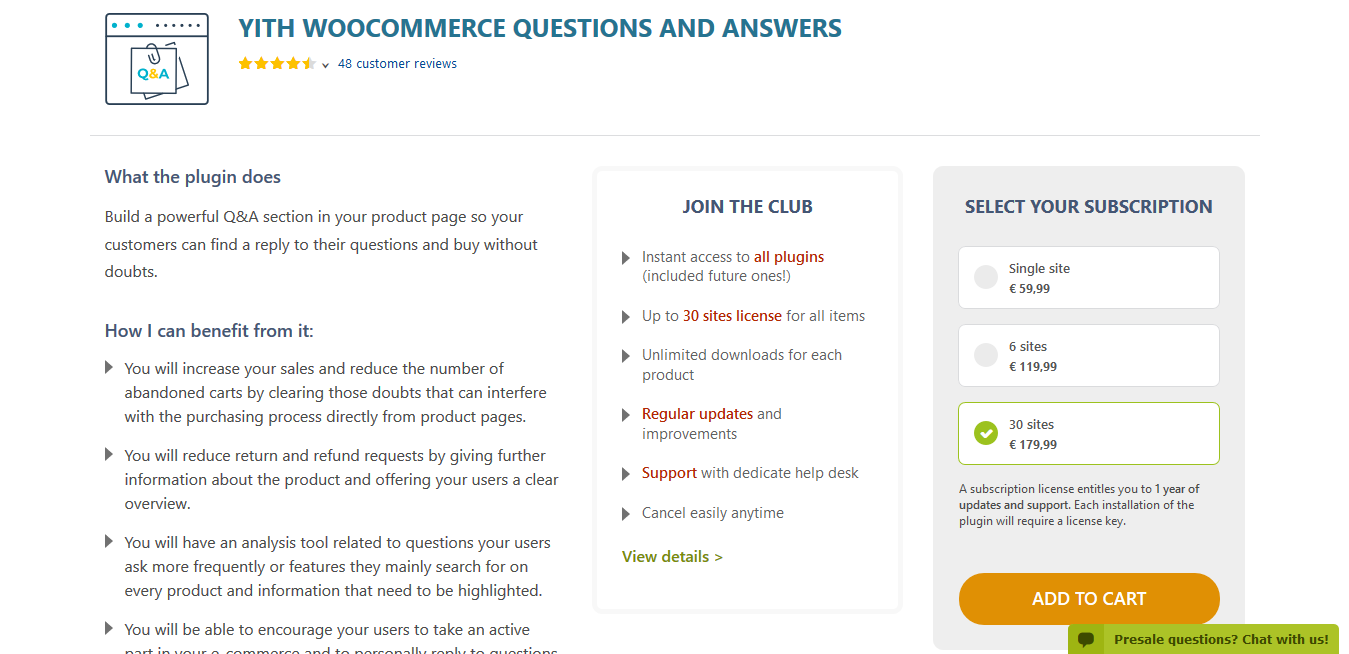 YITH WooCommerce Questions and Answers Premium 1.3.19