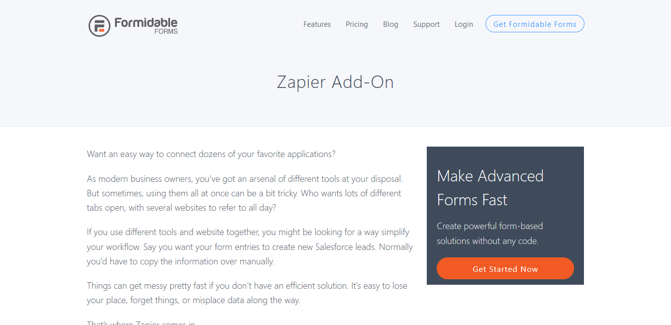 Formidable Forms Pro Zapier Integrations Add-On 1.06