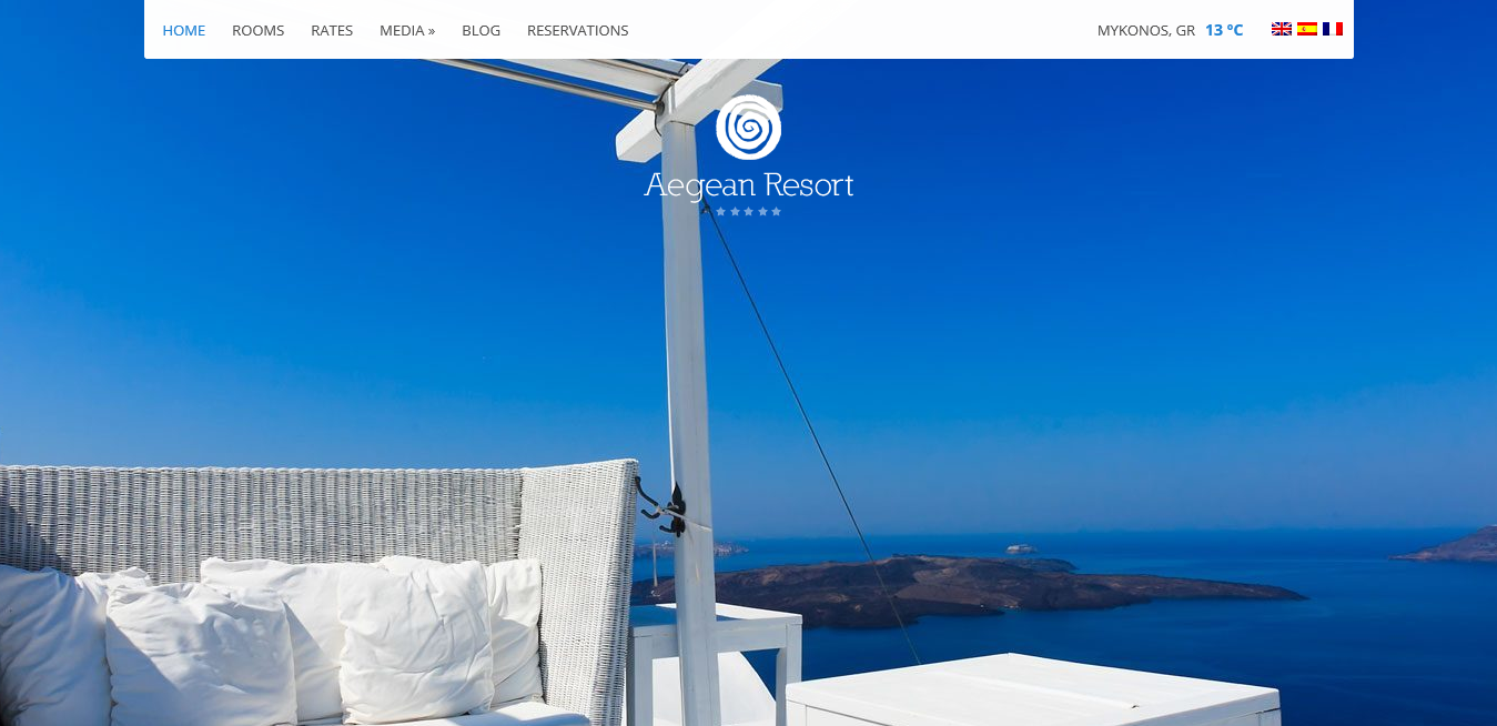 CSS Igniter Aegean Resort WordPress Theme 3.1