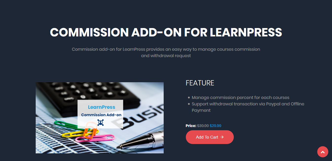 LearnPress – Instructor Commission 3.0.4
