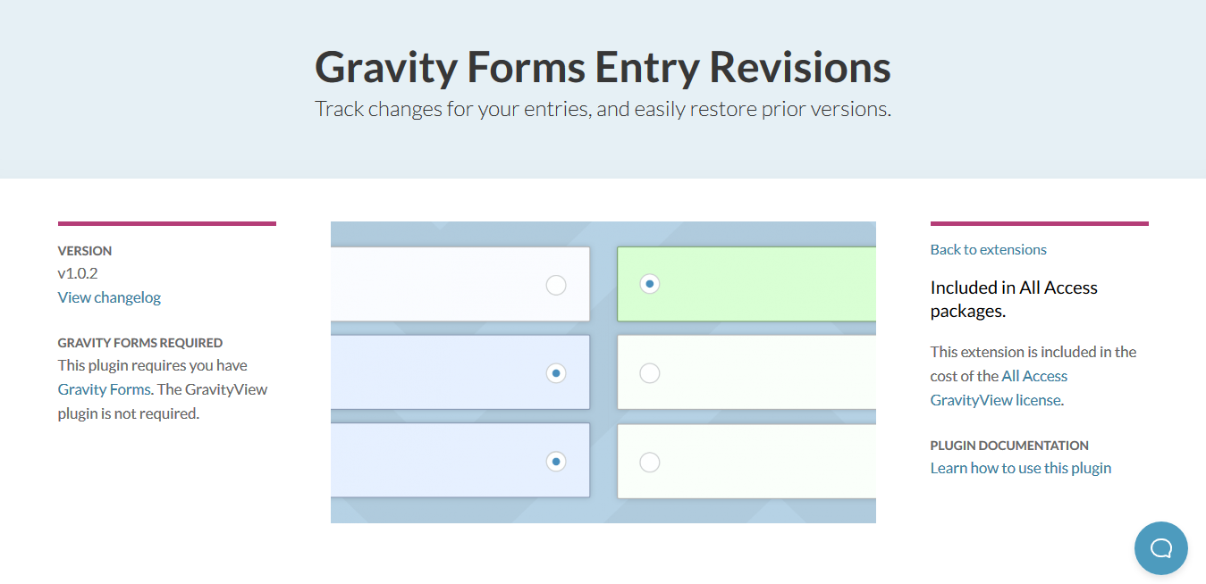 GravityView – Entry Revisions 1.0.2