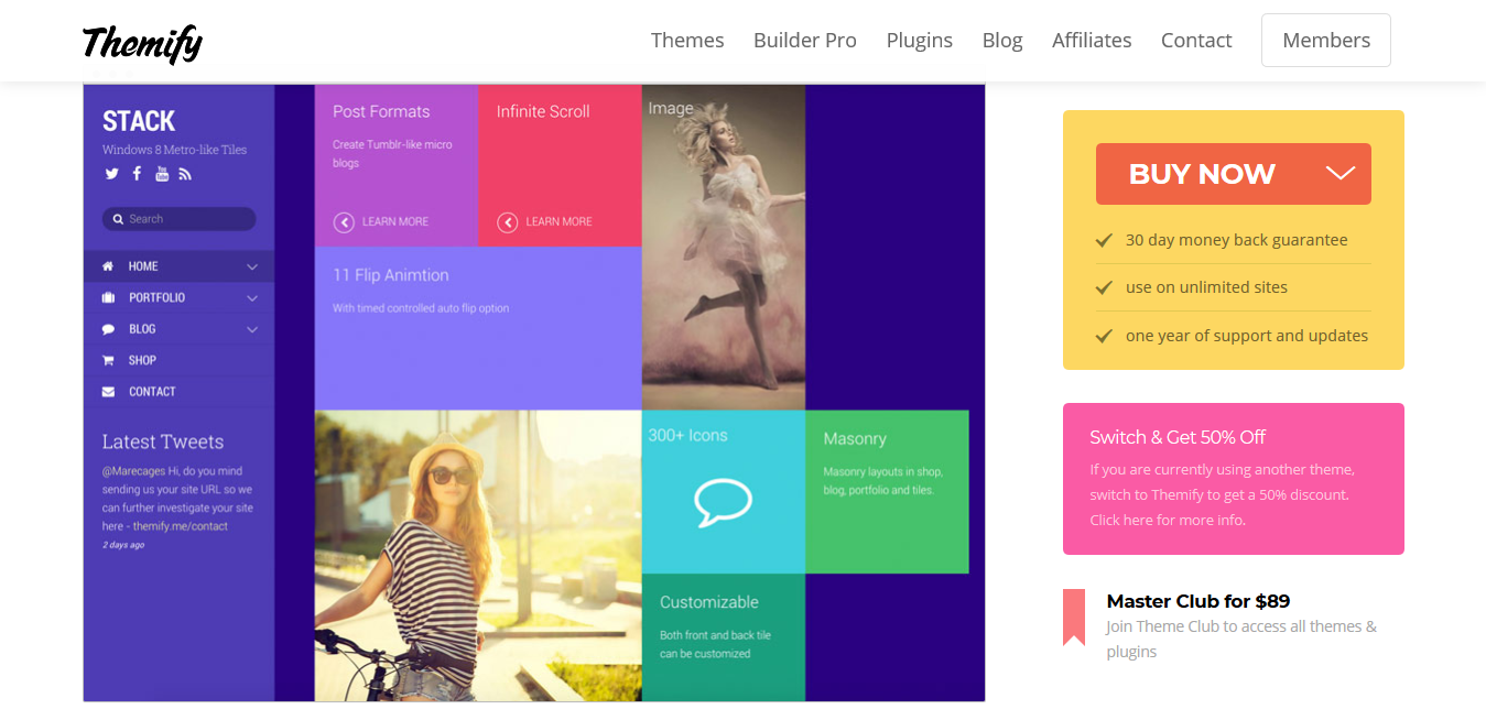 Themify Stack WordPress Theme 5.2.0