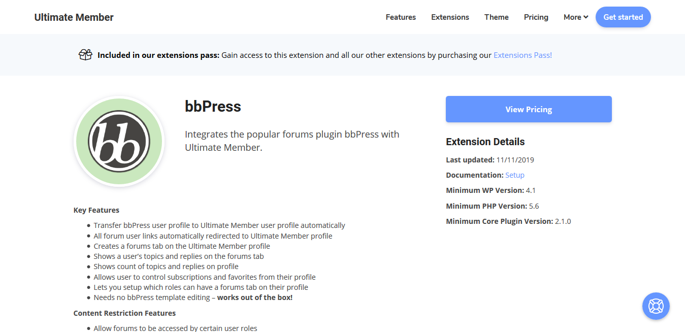 Ultimate Member bbPress 2.0.8