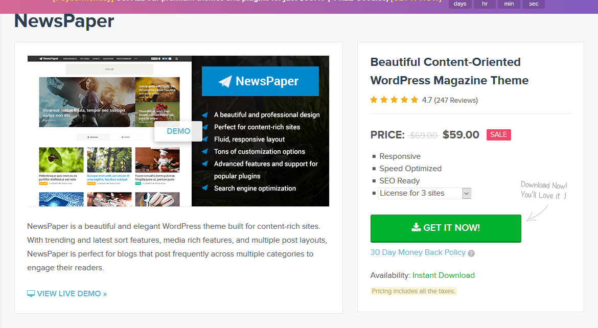 MyThemeShop Newspaper WordPress Theme 2.3.13