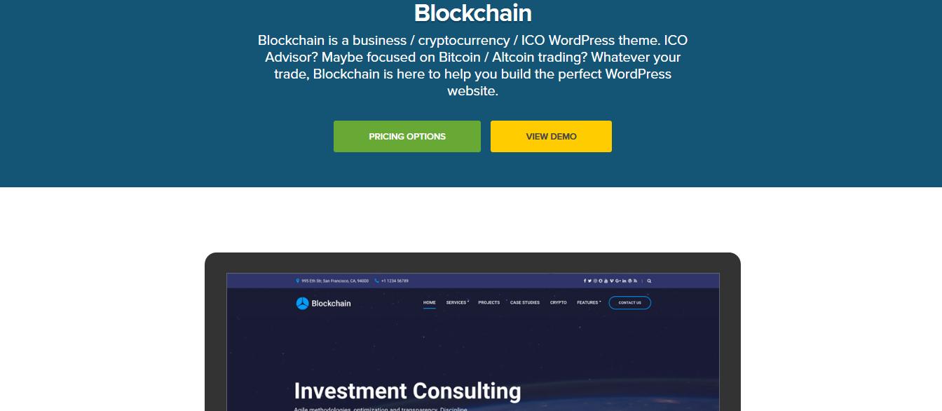 CSS Igniter Blockchain WordPress Theme 1.7
