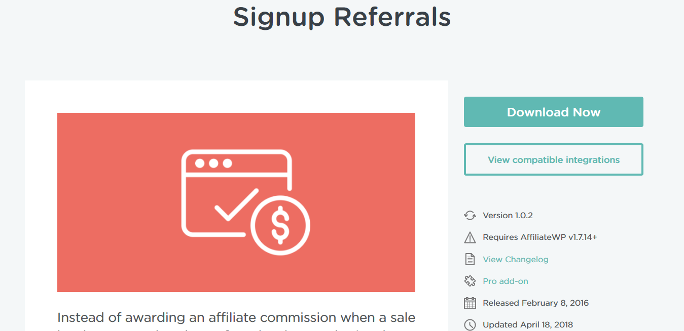 AffiliateWP – Signup Referrals 1.0.2