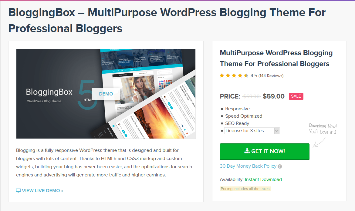 MyThemeShop BloggingBox WordPress Theme 1.2.4