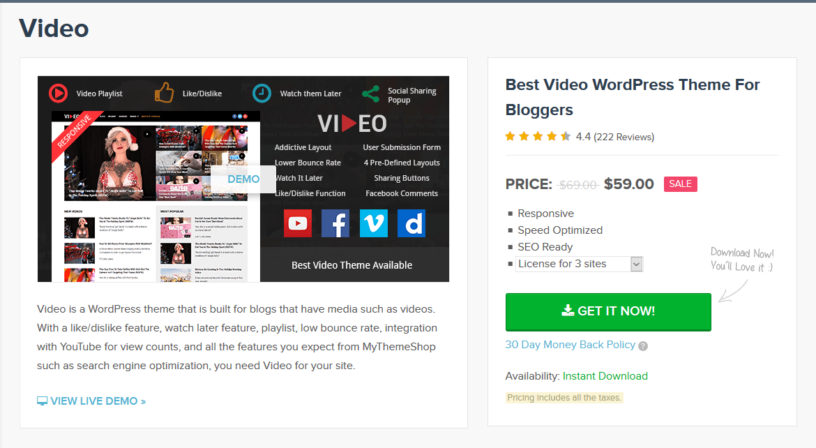 MyThemeShop Video WordPress Theme 2.2.6