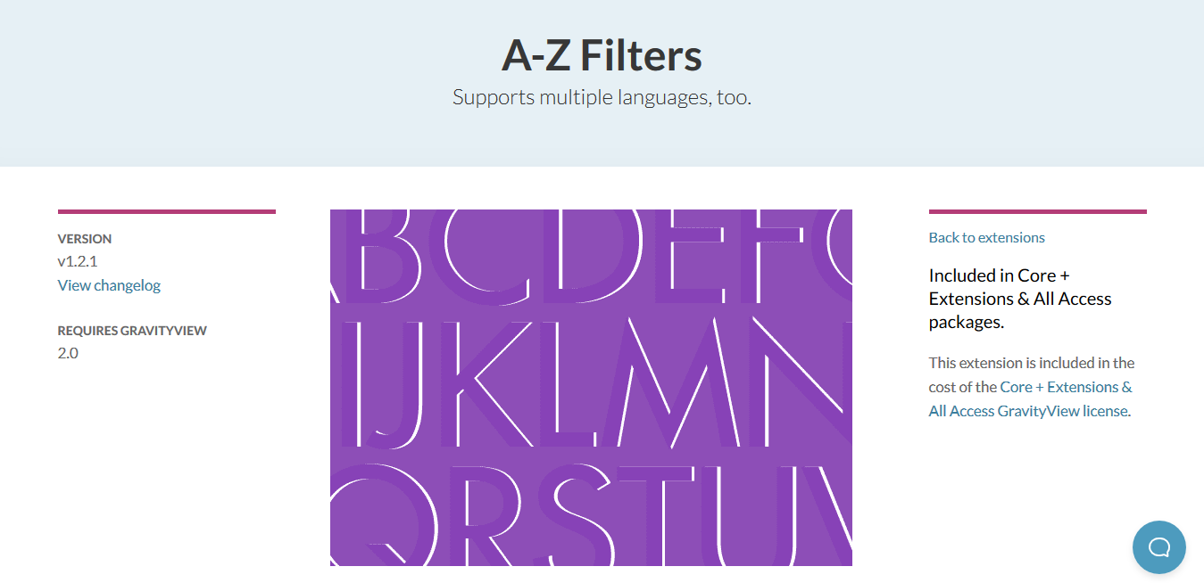 GravityView – A-Z Filters Extension 1.2.1