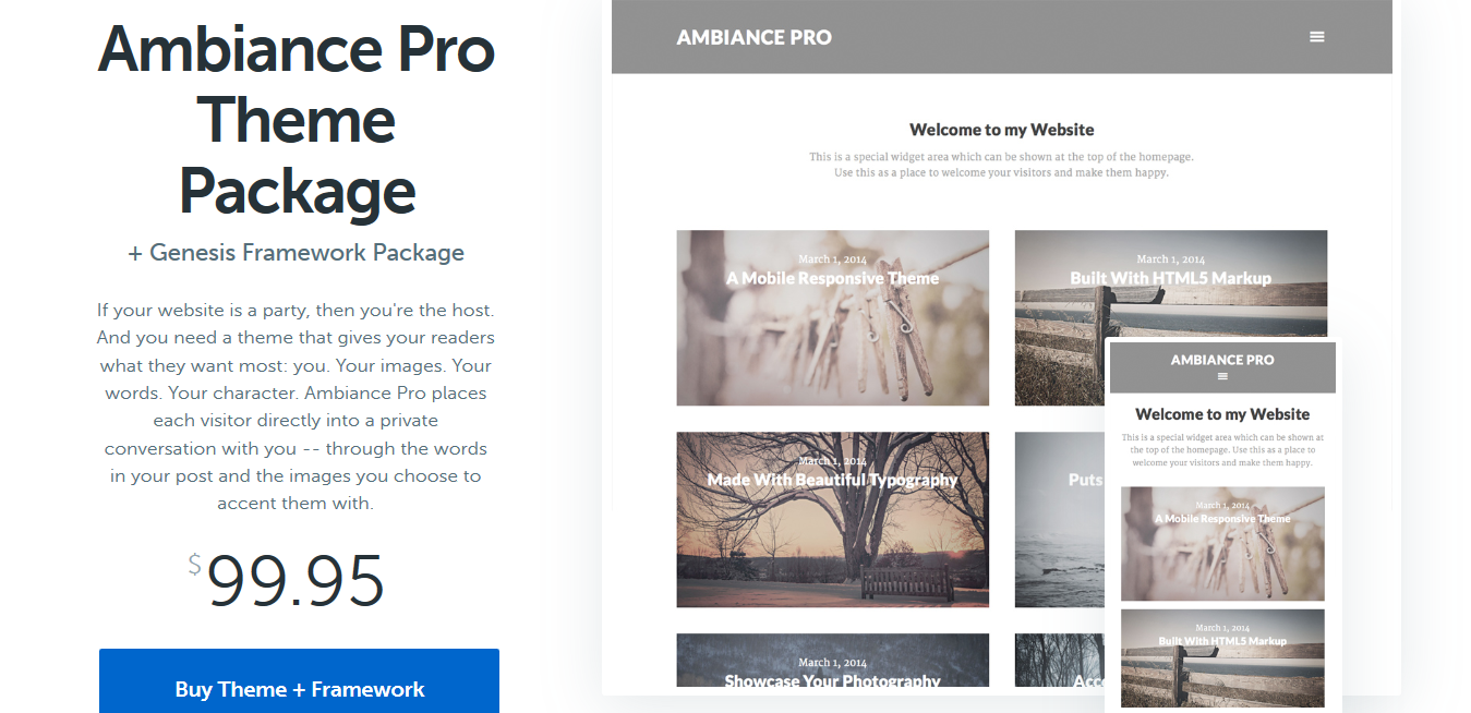 StudioPress Ambiance Pro Genesis WordPress Theme 1.1.4