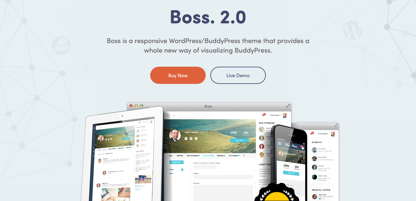 Boss WordPress Theme 2.5.7 – Create a Stunning Community Site