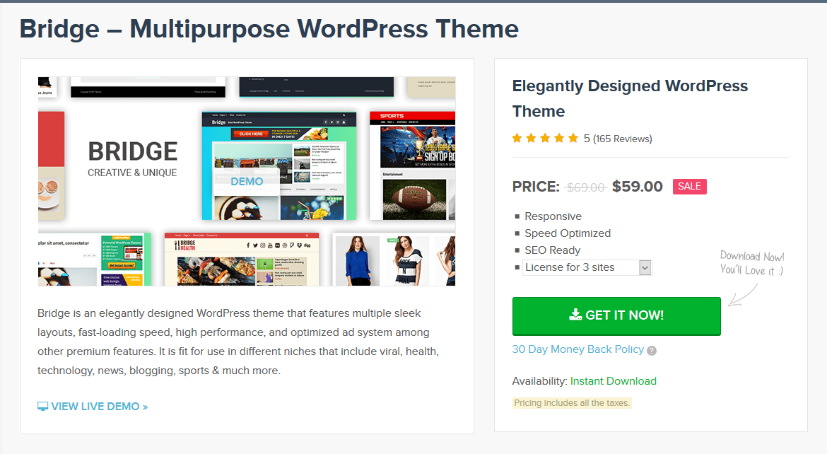 MyThemeShop Bridge WordPress Theme 1.1.5