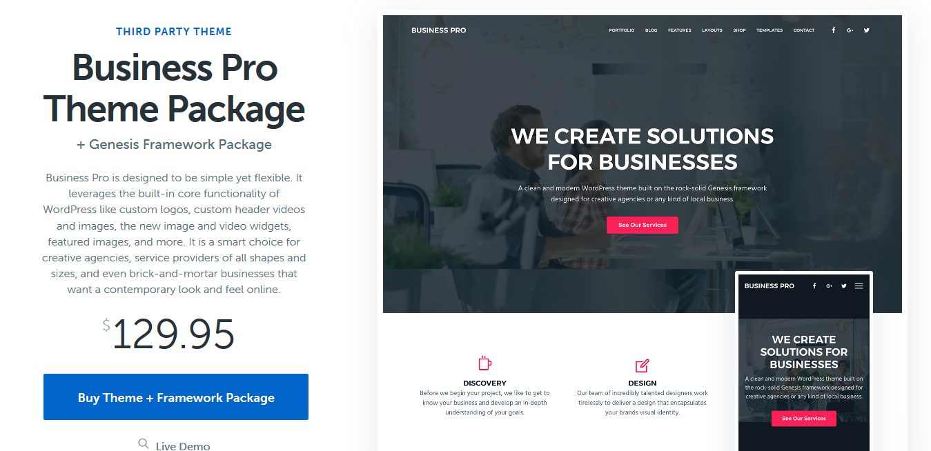StudioPress Business Pro Genesis WordPress Theme