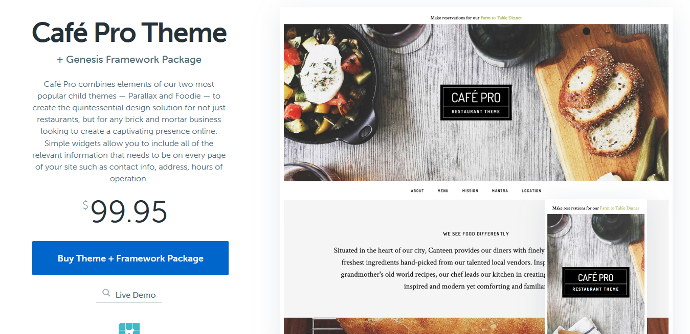 StudioPress Cafe Pro Genesis WordPress Theme 1.1.0