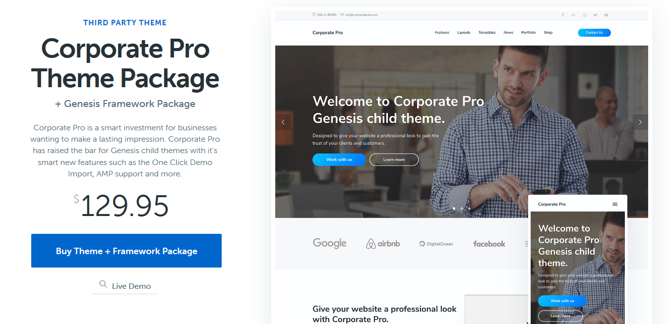 StudioPress Corporate Pro Genesis WordPress Theme 1.1.1
