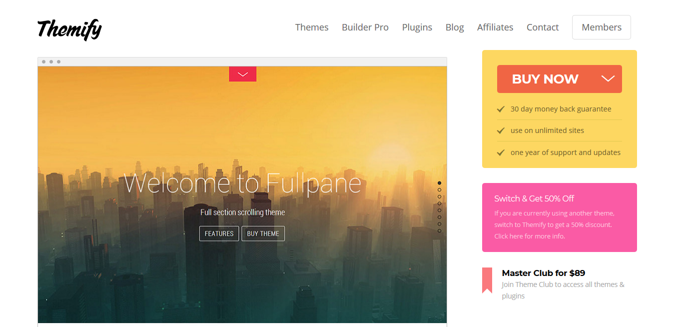 Themify Fullpane WordPress Theme 5.2.3