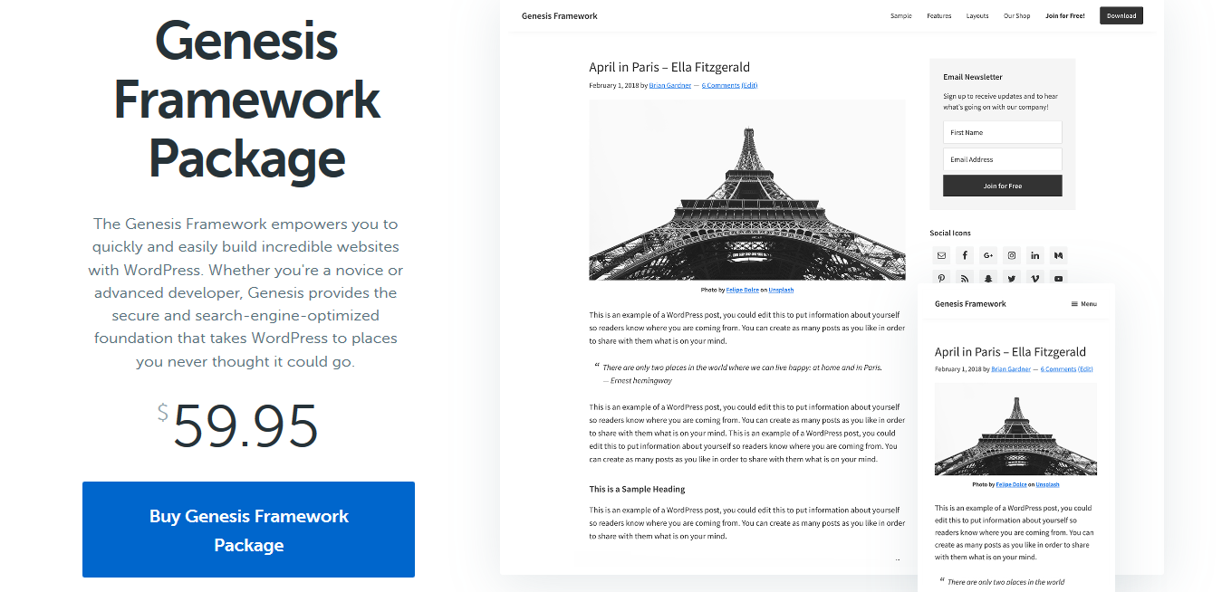 WordPress Genesis Framework by StudioPress 3.3.3