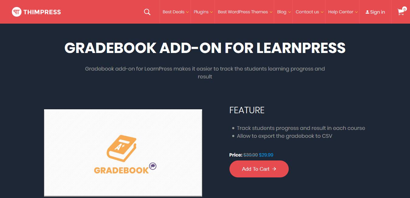 LearnPress – Gradebook 3.0.10