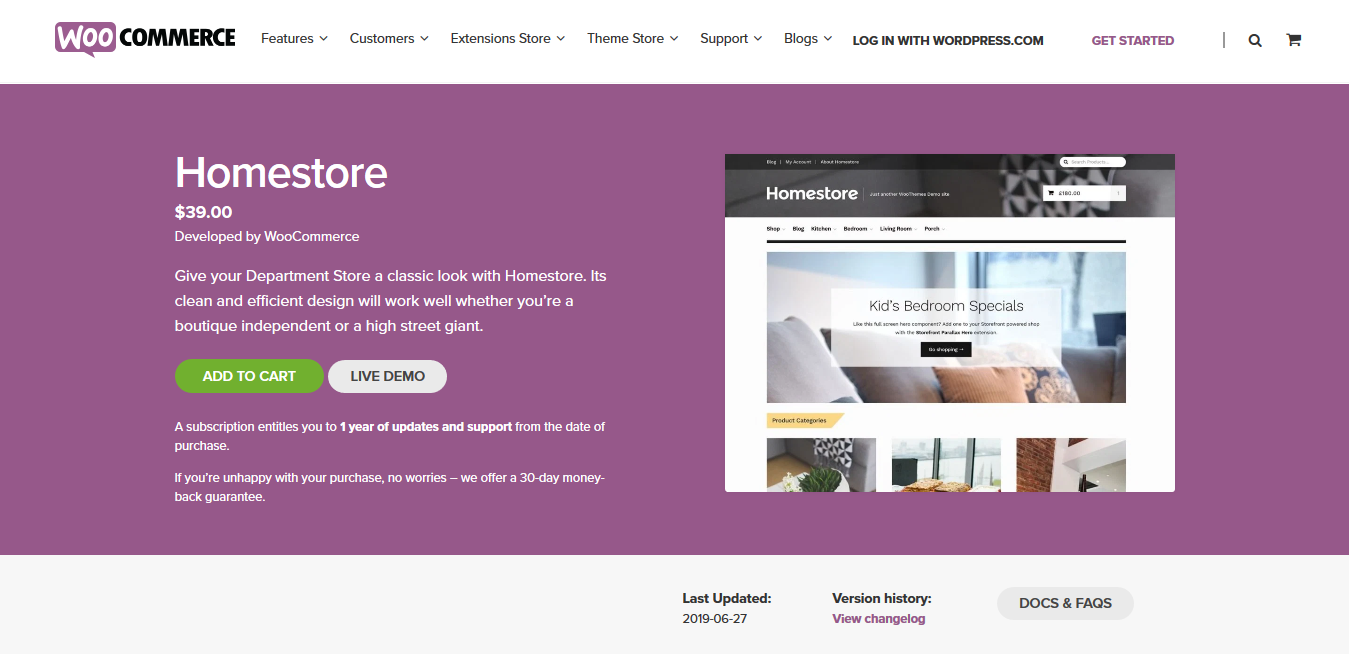 Homestore 2.0.31 – WooCommerce Storefront Child Theme