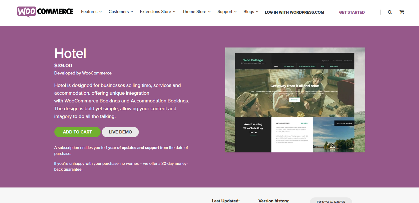 Hotel Storefront WooCommerce Child-Theme 1.0.14