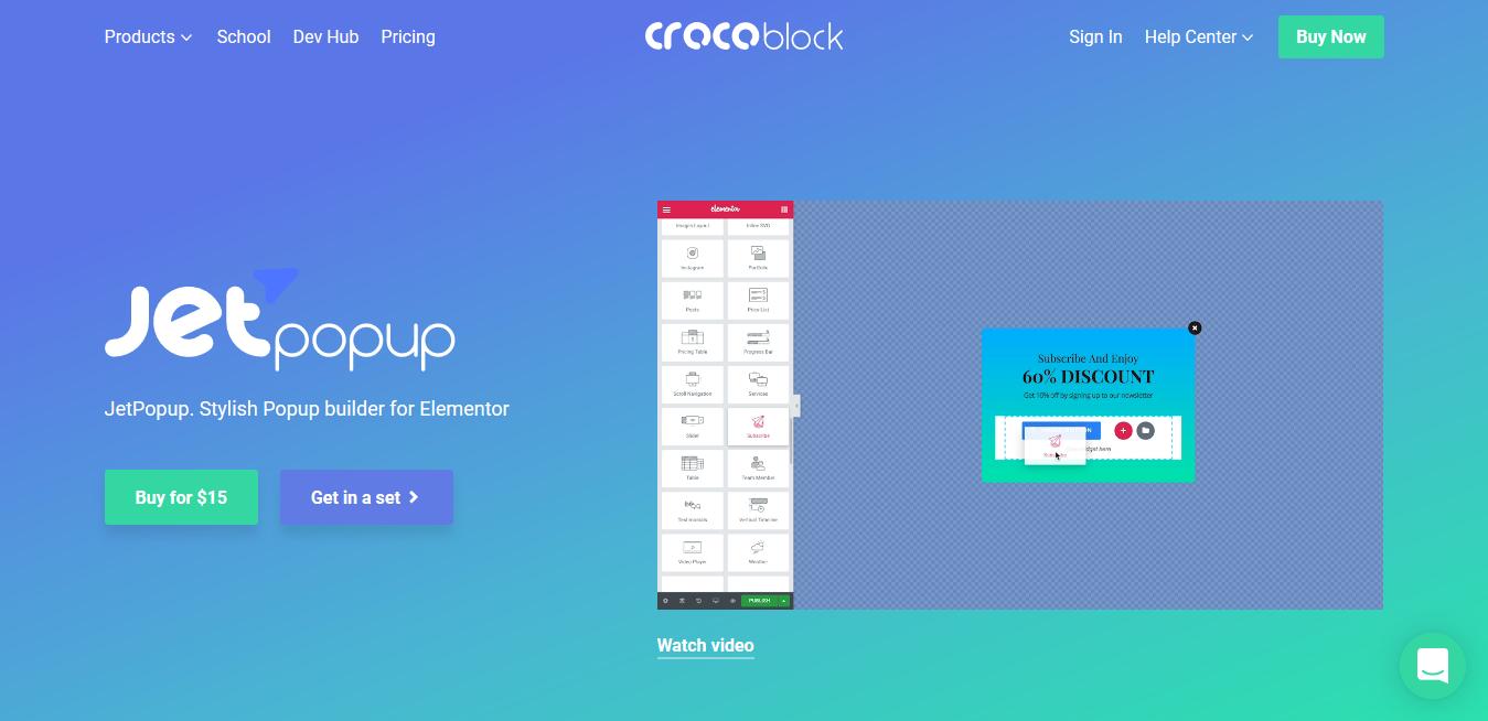 Crocoblocks Jetpopup 1.5.4 – Popup builder for Elementor